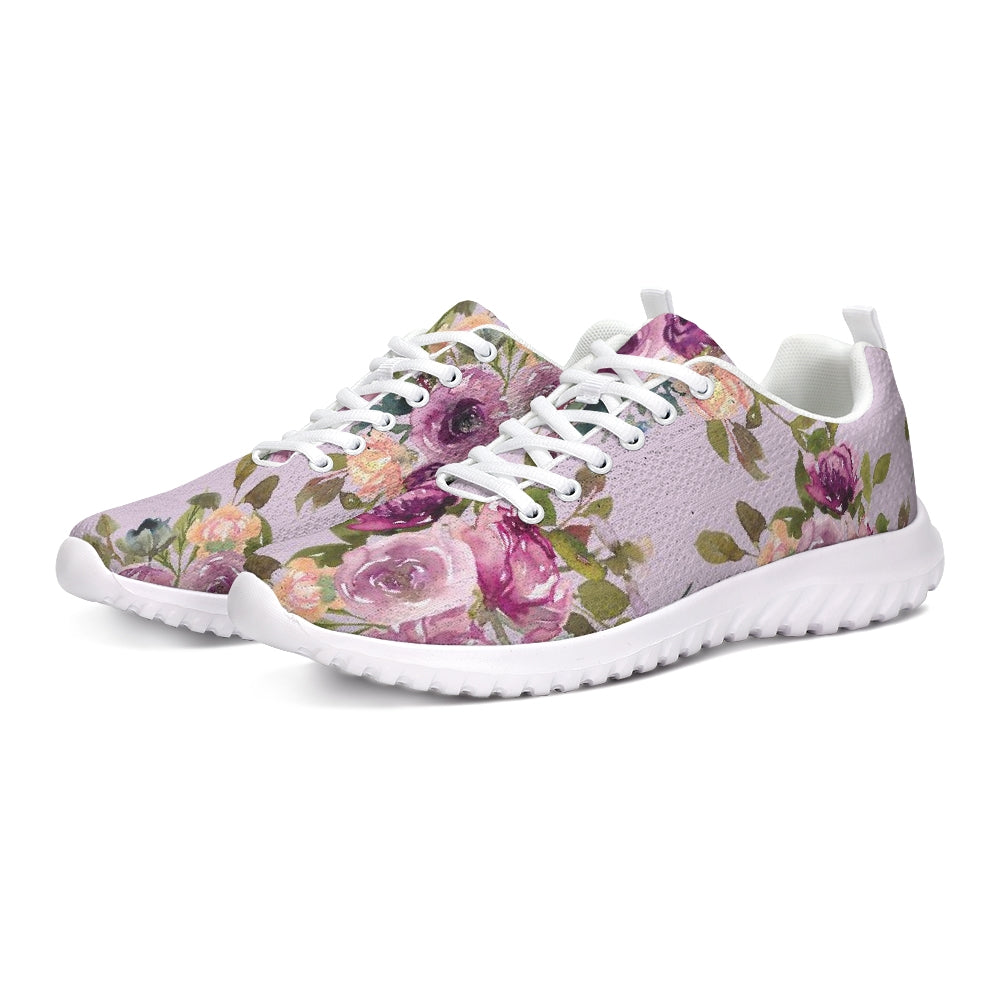 Purple Floral Athletic Shoe