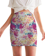 Multicolor Tie Dye Women's Mini Skirt