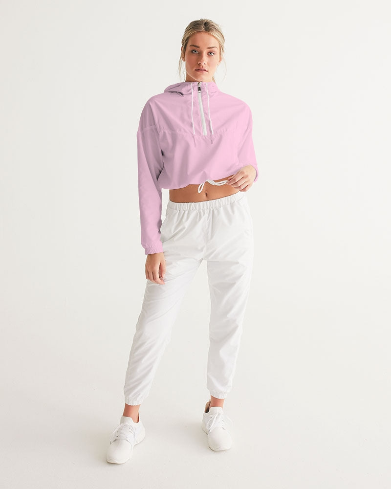 Pink Women's Cropped Windbreaker