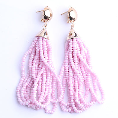 summer statement earrings, earrings, bead statement earrings, aqua statement earrings, liketoknow.it, blogger favorite earrings, favorite blogger earrings, trendy earrings , pink earrings