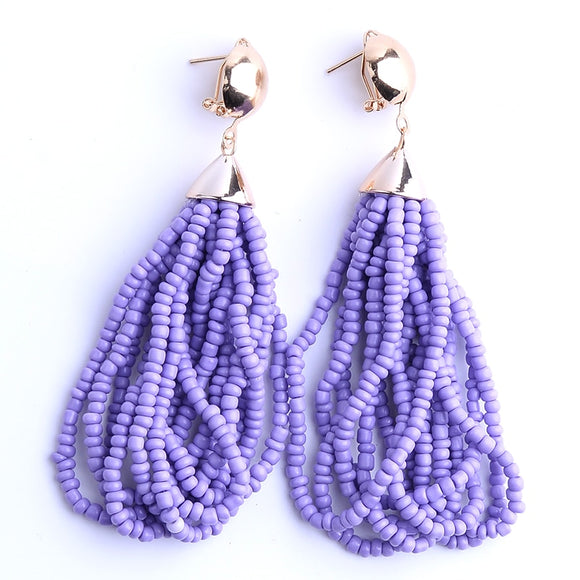 summer statement earrings, earrings, bead statement earrings, aqua statement earrings, liketoknow.it, blogger favorite earrings, favorite blogger earrings, trendy earrings, purple earrings