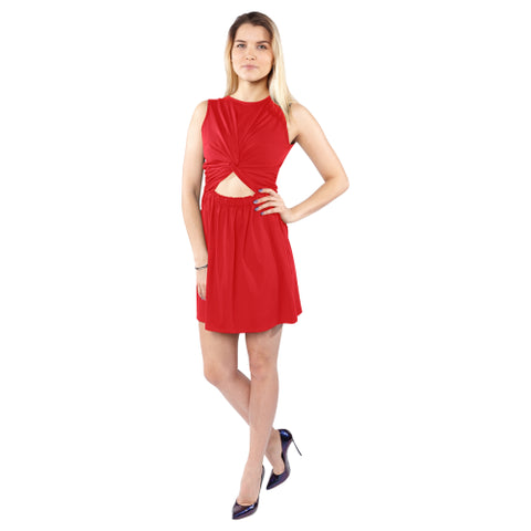 Women's Sleeveless Knot Waist Dress