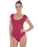 Cap Sleeve Bodysuit - Red Raspberry