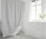 "71"" x 74"" Shower Curtain - Gray Lattice Print"