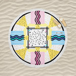 Kingston Abstract - Round Fringe Towel