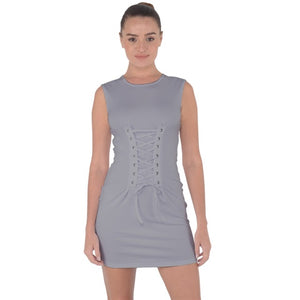 Lace Up Front Bodycon Mini Dress