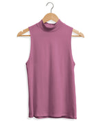 Mock Neck Tank - Mauve