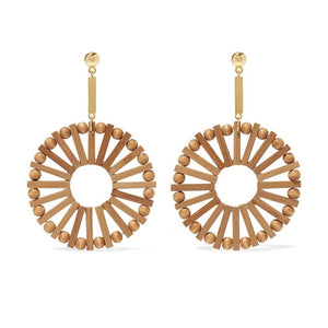 'Nefeli' Round Bamboo Earrings