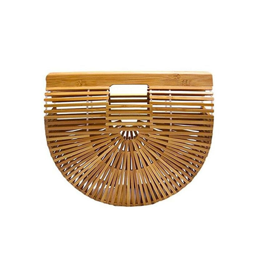 Bamboo Semi-Circle Bag