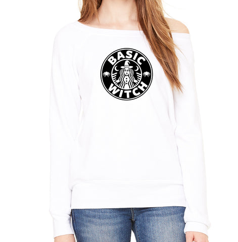 Basic Witch Off-the-Shoulder Sweatshirt