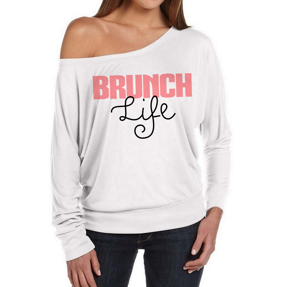 Brunch Life Off the Shoulder Slouchy Sweater