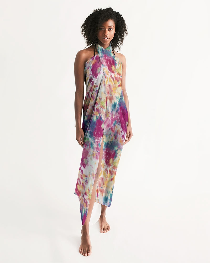 Multicolor Tie Dye Swim Cover Up