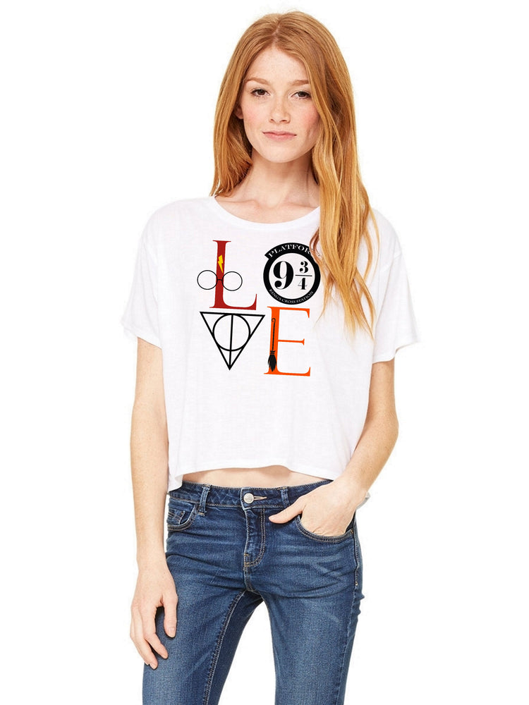 Boxy Cropped Tee - Harry Potter Love