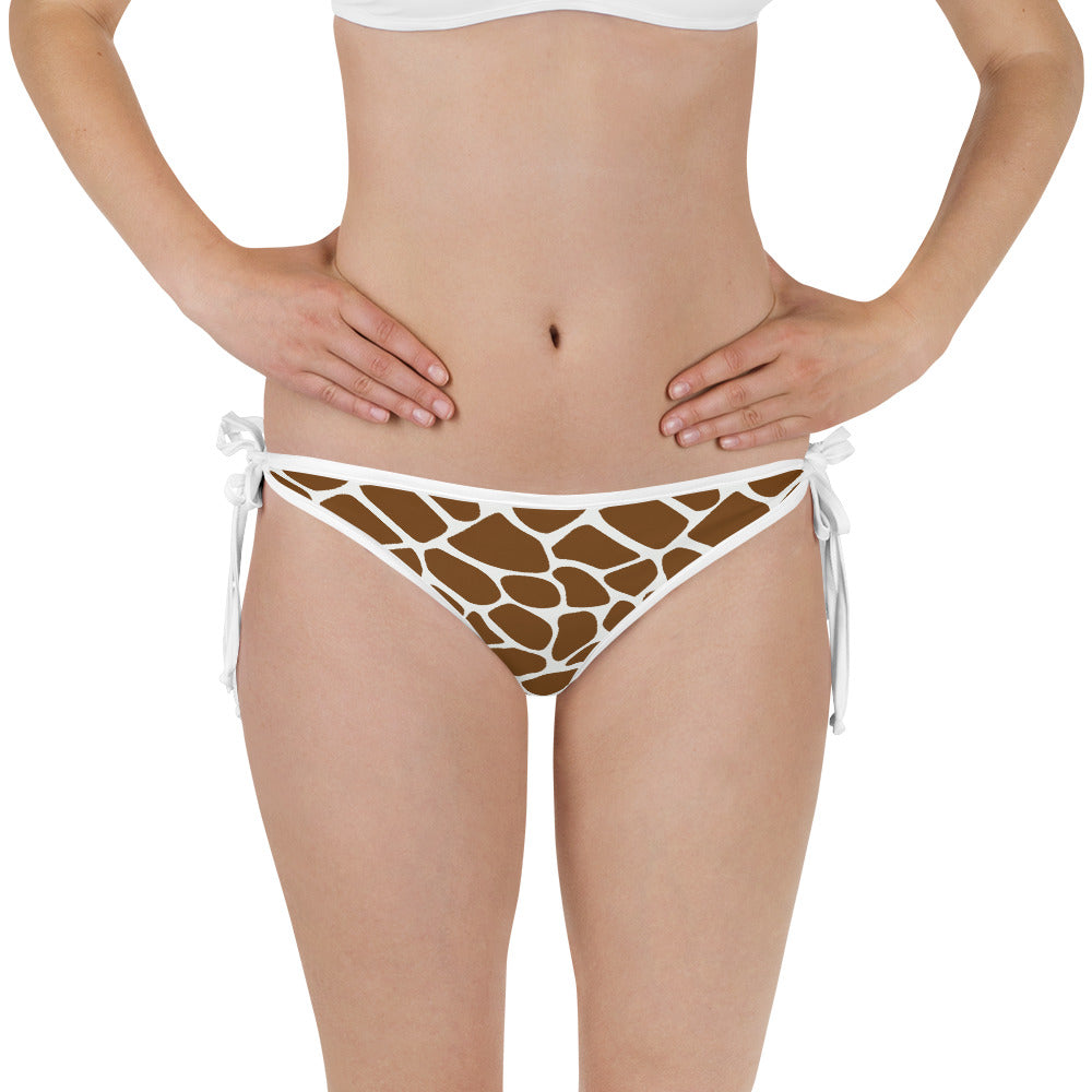 Side-Tie Bikini Bottom - Animal Instinct - Giraffe Print