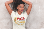 Pizza is my Love Language -  Ladies' Triblend Short Sleeve T-Shirt with Tear Away Label - vintage Style Tee