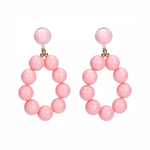 'LYRA' Pink Ball Statement Earrings