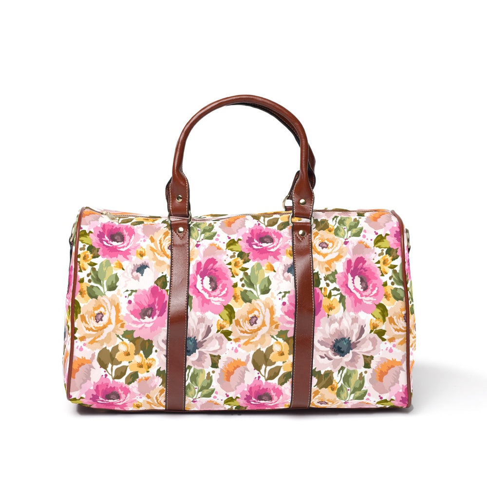 Large Weekender Travel Bag - Floral Escape