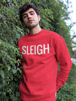 "RED ""SLEIGH"" CHRISTMAS UNISEX SWEATSHIRT"