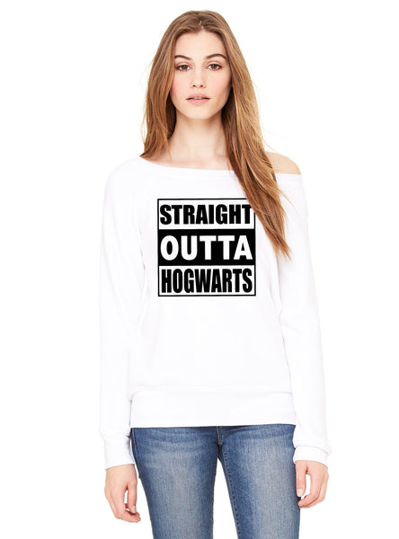 Straight Outta Hogwarts - Off the Shoulder Slouchy Sweatshirt