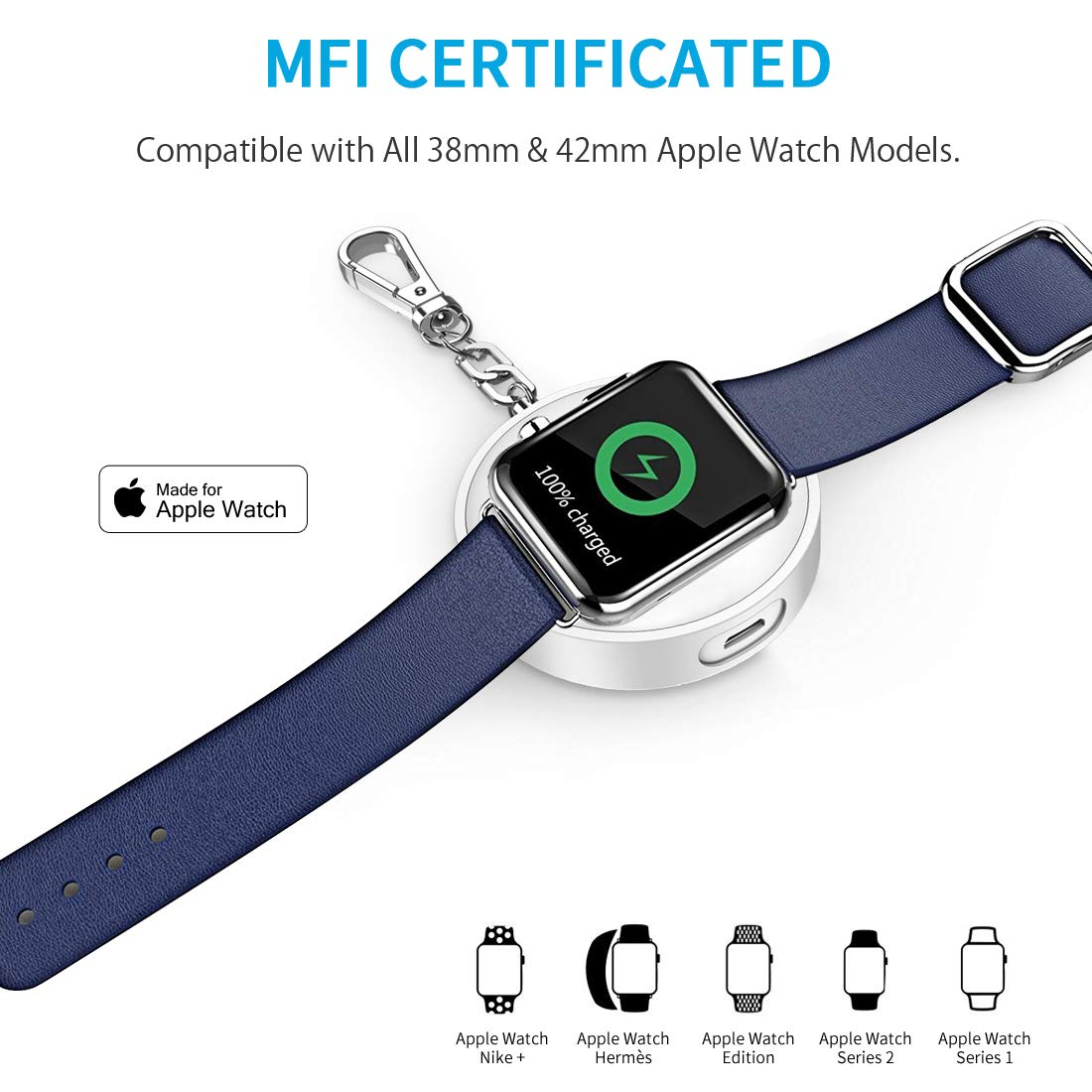 CHOETECH MFI Certified Apple Watch Charger,