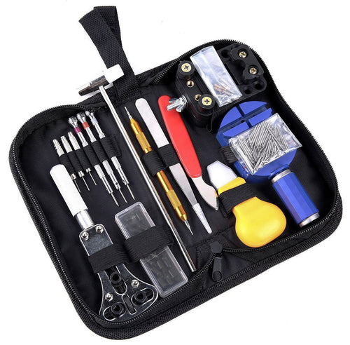 147 Piece Apple Watch Repair Tool Kit, Case Opener Spring Bar Watch Band Link Tool Set With Carrying Bag, Replace Watch Battery Helper Multi-functional Tools