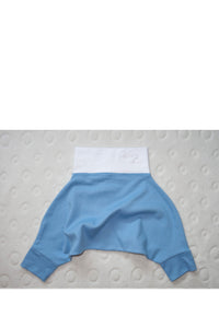 BABY PANTS: Baby blue cosy pants. ORGANIC COTTON