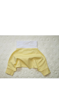 BABY PANTS: Light Yellow. ORGANIC COTTON
