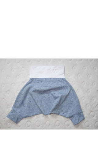 BABY PANTS: Royal melange blue. ORGANIC COTTON