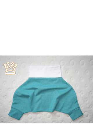 BABY PANTS: Royal melange green. ORGANIC COTTON
