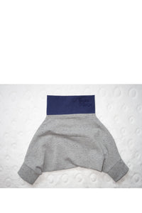 BABY PANTS: Royal melange gray. ORGANIC COTTON