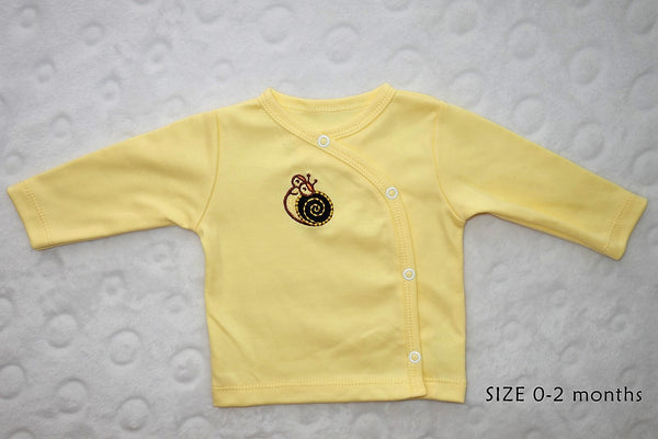 BABY OUTFIT: Blue SNAIL. BABY NAME SHIRT!