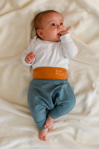 BABY PANTS: Royal turquoise. ORGANIC COTTON