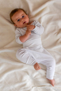 BABY PANTS: Warm White. ORGANIC COTTON