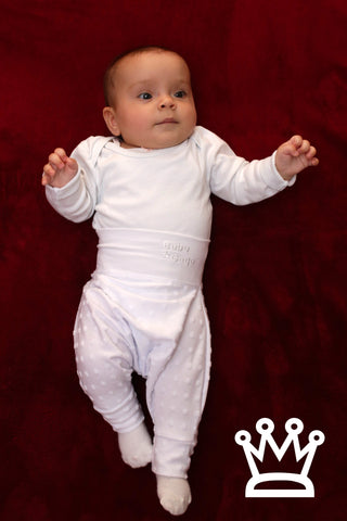 BABY PANTS: Royal white. ORGANIC COTTON