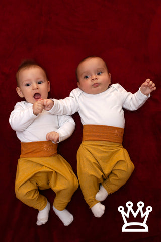 BABY PANTS: Royal yellow. ORGANIC COTTON