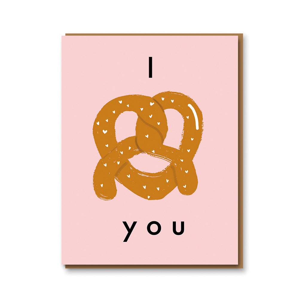 Karte I Love You Pretzel