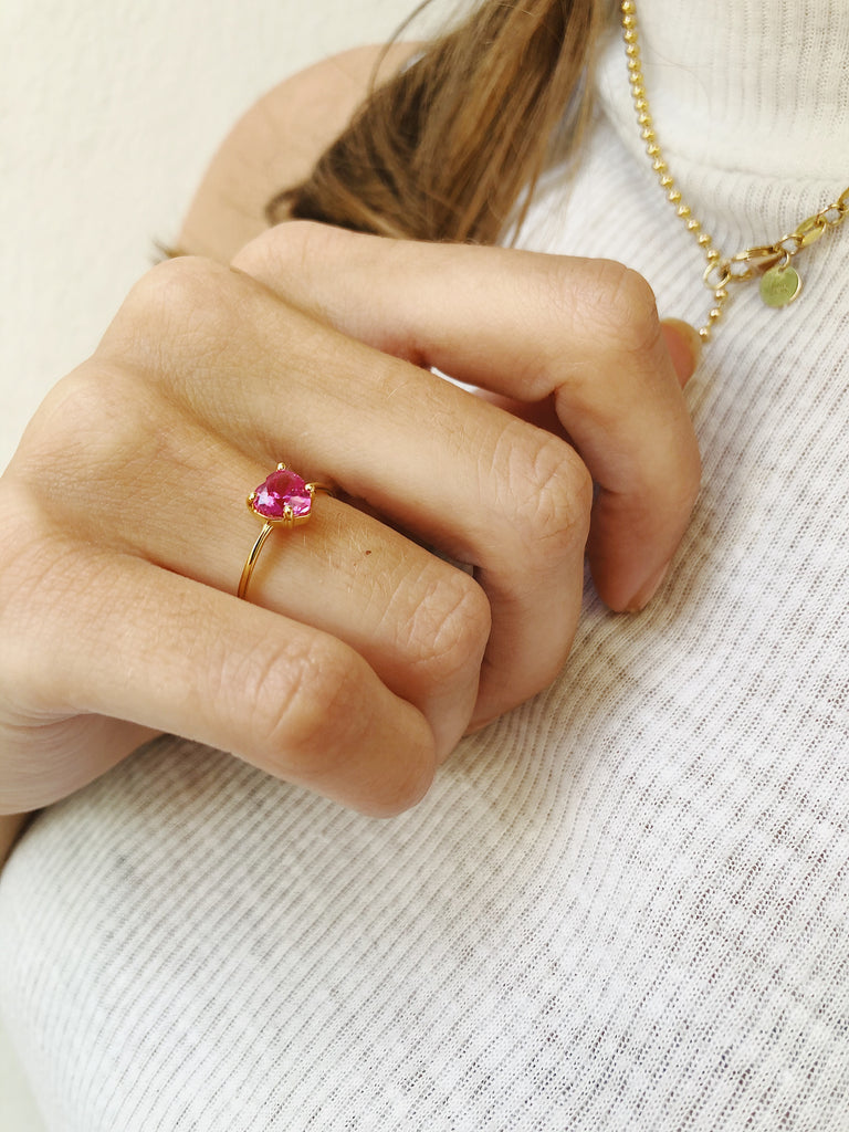 Ring Candy Heart Pink