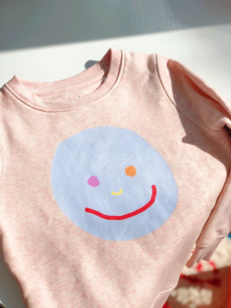 Sweatshirt Kids Smiley Rosa