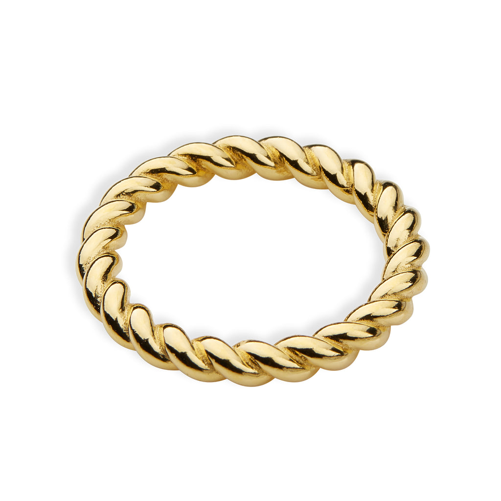 Ring Twisted band broad
