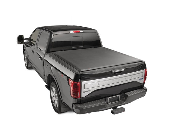 WeatherTech 2008-2014 Ford F-150 6ft 5in Bed w/o Side Rail Kit Roll Up Truck Bed Cover - Black (8RC1356)