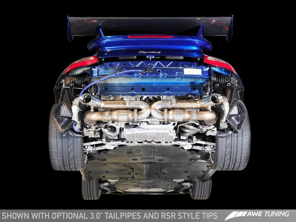AWE Tuning Porsche 997.2TT Performance Exhaust Solution for OE Tips (3010-11028)
