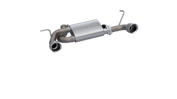 QTP 2018 Jeep Wrangler JL 304SS Screamer Cat-Back Exhaust 4DR w/4in Tips (425018)