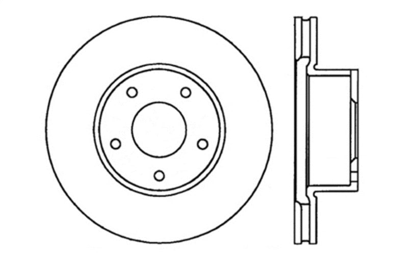 StopTech Drilled Sport Brake Rotor No Right Avail - Use 2 Lefts for Set per StopTech (128.62081L)