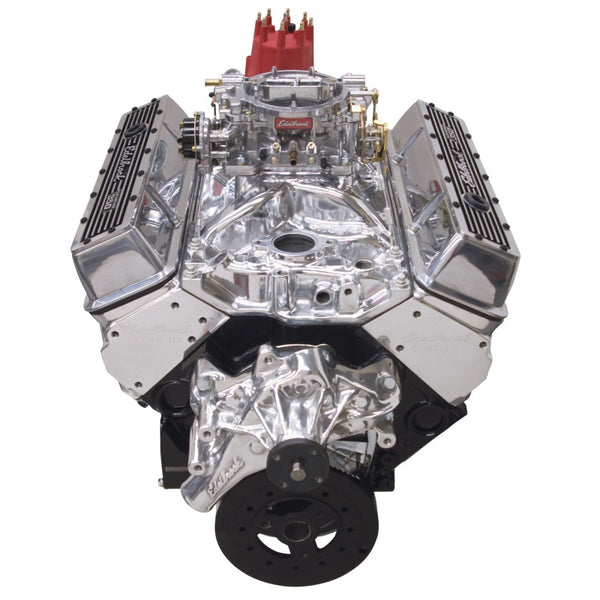 Edelbrock Crate Engine Edelbrock 9 0 1 Performer E-Tec w/ Long Water Pump w/ Polished Intake (46421)