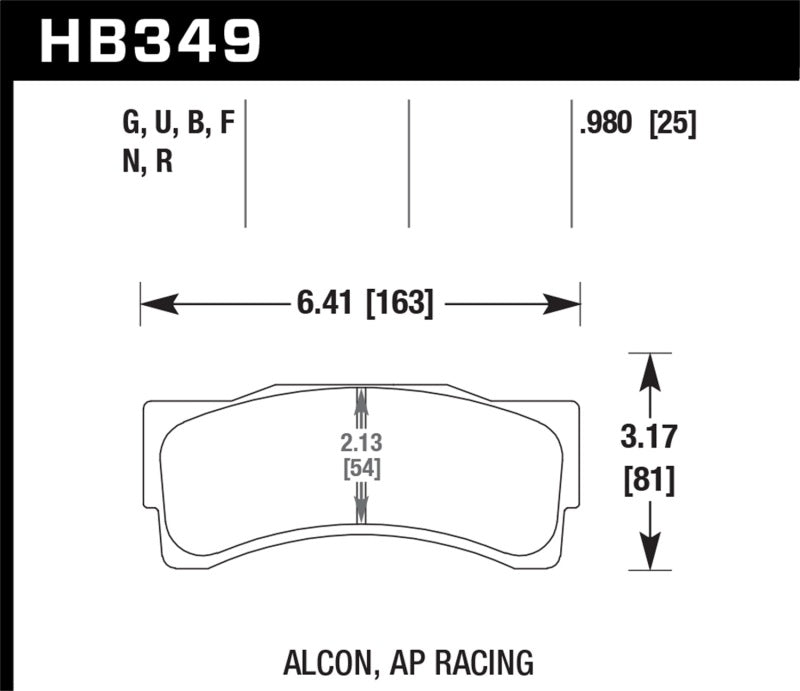 Hawk Performance K DTC-70 Brake Pad Sets (hawkHB349U1.18)