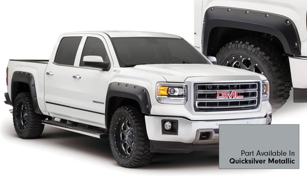 Bushwacker 15-15 GMC Sierra 1500 Pocket Style Flares 4pc - Quicksilver (40960-54)