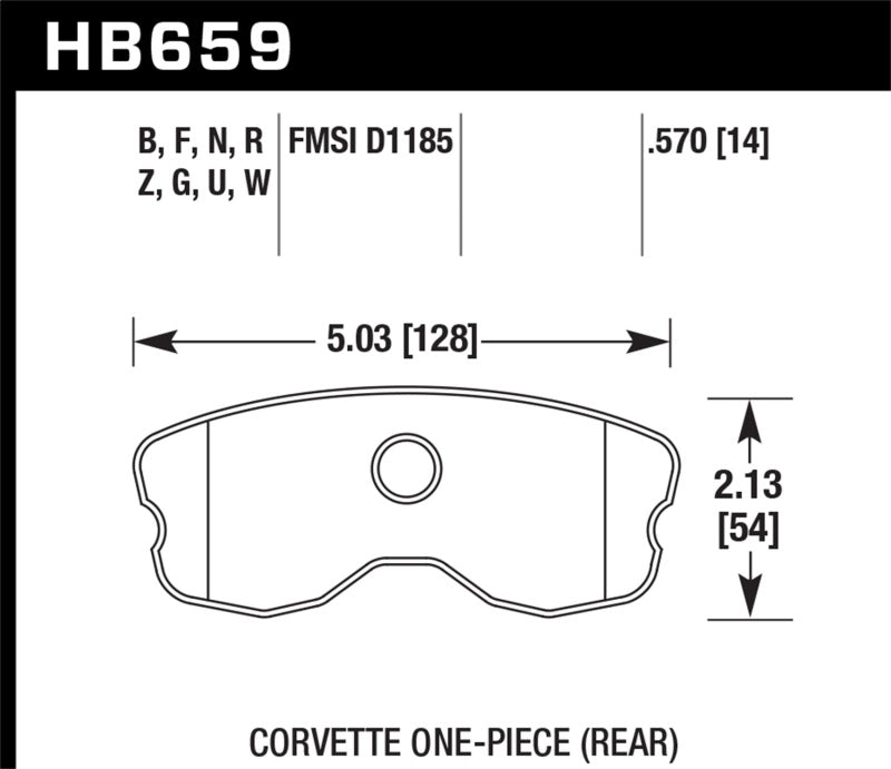 Hawk Performance K DTC-80 Brake Pad Sets (hawkHB659Q.570)