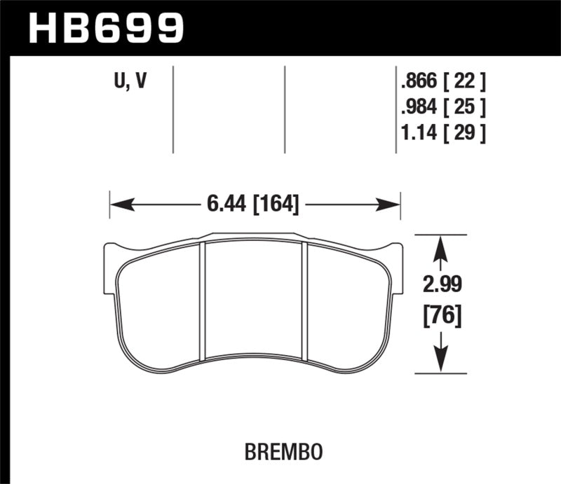 Hawk Performance K DTC-80 Brake Pad Sets (hawkHB699Q1.14)