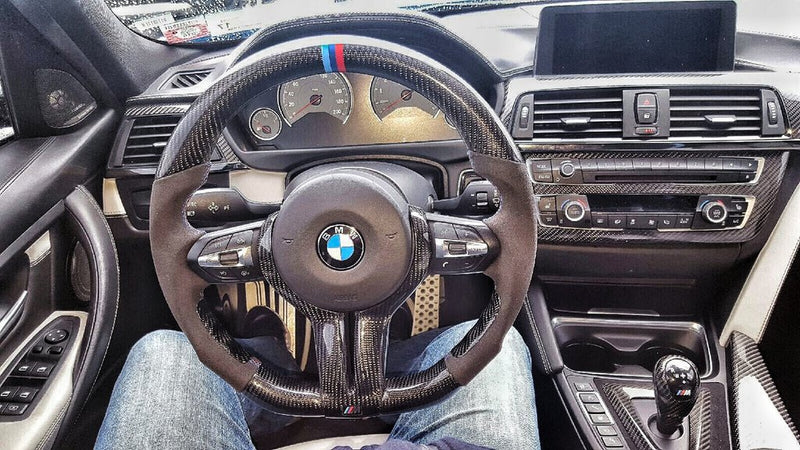 DINMANN CF – Carbon Fiber Steering Wheel for F8X M3 M4 F87 M2 2, 3, 4 SERIES