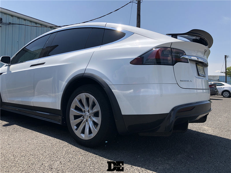 Carbon Fiber DE Style Rear Diffuser Lip Kit For Tesla Model X